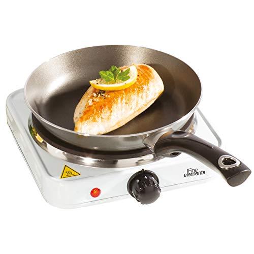FINE ELEMENTS SDA1675 Hot Plate, Cast Iron, White