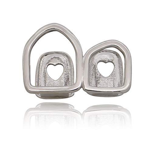 COCOCO Hip Hop Single Teeth Top Grills für Mann Cross Heart Hollow Out Grillz Dental Gold Zahnkappen Schmuck für Zähne-zweiundzwanzig
