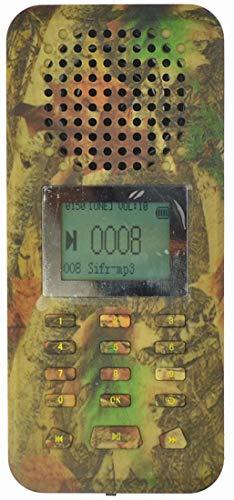 LikeBlue Pájaro llamador Reproductor de MP3 20 W 126dB Altavoz Pantalla LCD Batería Recargable Camuflaje