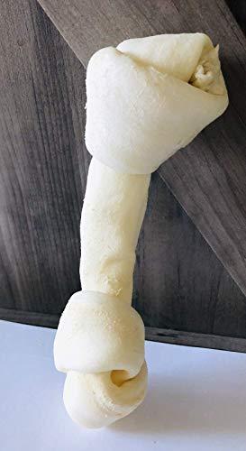 "Homemade All Natural Rawhide Knotted Bone, 4""-5"" each, 1 Bone"