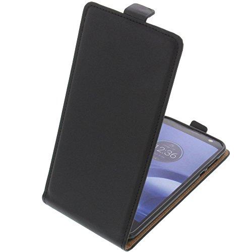 foto-kontor Tasche für Lenovo Moto Z Force Smartphone Flipstyle Schutz Hülle schwarz