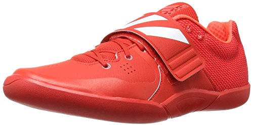adidas Unisex-Adult Adizero Discus/Hammer Track Shoe, Red/White/Infrared, 13.5 M US