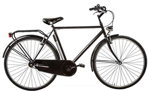 Bici Misura 28 Olanda Uomo Senza FILETTI Passeggio Olandese Art. OL28SF (Nero, 58 CM)