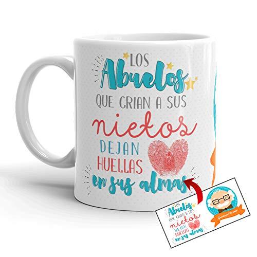 Kembilove Taza Abuelo – Tazas de Desayuno Graciosa Los Abuelos crían a Sus Nietos – Taza Desayuno Original el Día del Padre para Abuelos y Padres