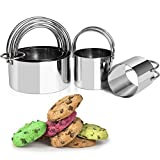 Biscuit Cutters for Baking, Professional Baking Dough Tools Stainless Steel Round Cookie Cutters...