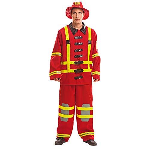 My Other Me Me-200977 Disfraz de bombero para hombre, M-L (Viving Costumes 200977)