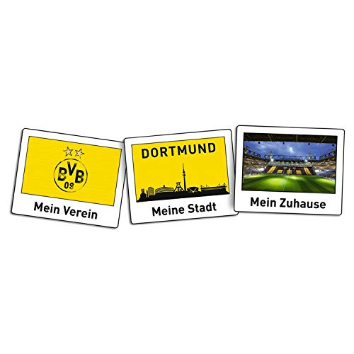 Borussia Dortmund Stickers - Polaroid - Sticker 26 x 10 cm compatibel BVB 09 - Plus bladwijzer I Love Dortmund