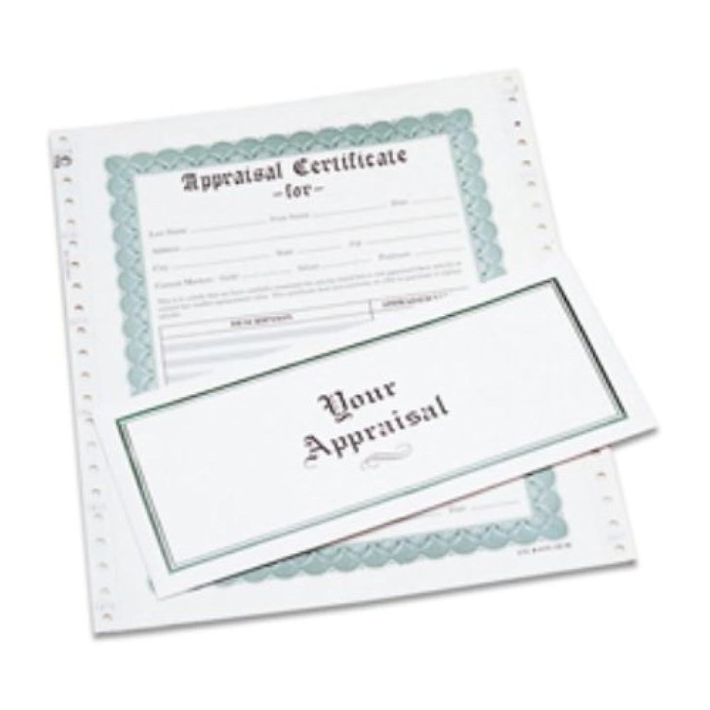 Appraisal Certificates, Box of 100   APR-100.00