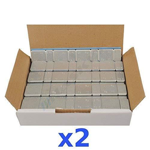 2x 6Kg 12KG Peso Adhesivo Tira Adhesiva Pesa de Equilibrada 5g * 4+10G *4 200 Pasador