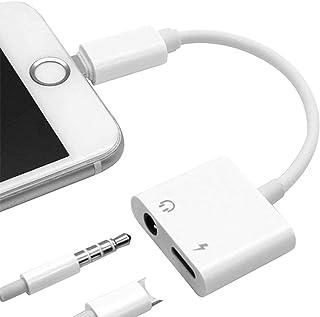 Ikheriy iPhone イヤホン変換ケーブル イヤホンジャック 変換アダプタ 充電 イヤホン 同時 2in1 イヤホンリモコン操作可能 [通話をサポートしていません] iPhone 12/SE 2/11/XS/XR/X/8/7に適用 (I...