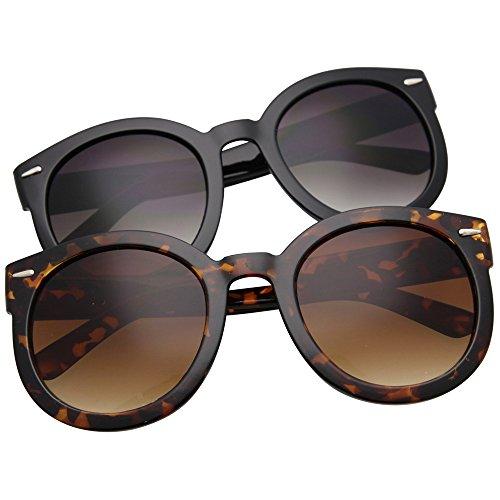 grinderpunch Mujer Designer Inspired grande redondo Círculo Gafas de sol MOD Fashion