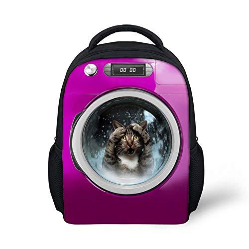 School Backpack, School Bag Cartoon Puppy Backpack Pet Dog Backpack 3D Backpack Dog Picture, for Teenager Fashion Daypack Purple