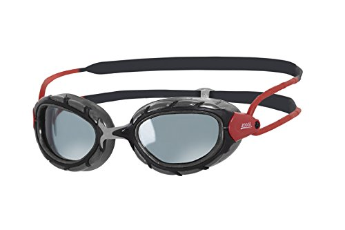 Zoggs Predator Polarized Schwimmbrille, Black/Red/Smoke, OneSize
