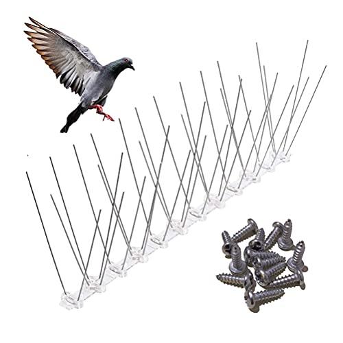 Dissuasori per Piccioni, 3 Metri Kit Spuntoni per Uccelli in Acciaio Inox...