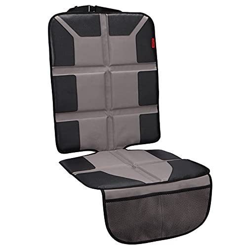 Kaiphy Car Seat Protector with Thick Padding + XL Large Car Seat Cover for Child Baby Carseat, Eco Friendly Waterproof & Durable Fabric + Reinforced Corners (Gray)