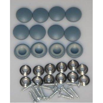 Set of 12 Dura Snap Upholstery Buttons #30 Aqua Mist Vinyl