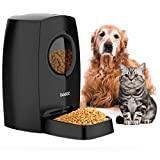 Iseebiz 6L Automatic Dog Feeder, Visible Window Dry Food Dispenser, Meal Portion Control Cat Feeder, Voice Recorder, Timer Programmable, IR Detect, Up to 4 Meals per Day for Medium Large Dogs Cats