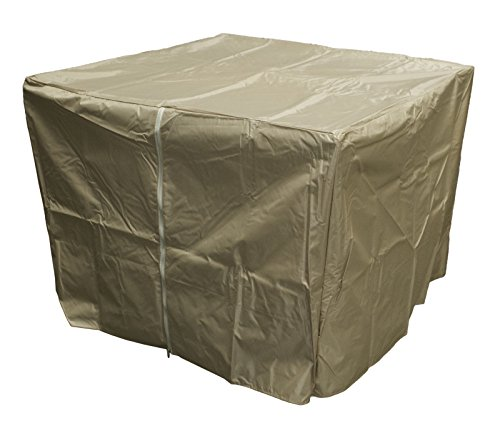 Hiland GS-F-PCHDCV Dut Heavy Duty Square Fire Pit Cover, High Density Fabric, Tan