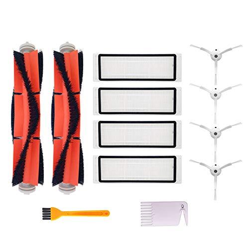 Yolando Kit di Accessori per Xiaomi Aspirapolvere, 4 Spazzole Laterali, 4 Filtri HEPA, 2 Spazzola Centrale, Parti di Ricambio per Xiaomi Mi Robot Vacuum Cleaner Mijia Roborock Aspirapolvere