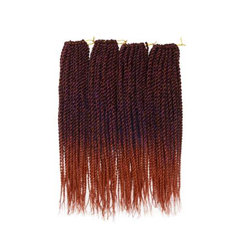 "Leyoo 12"" Senegalese Twist Crochet Braid(120 roots/Box) Thin Havana Mambo Crochet Hair Extension For Kids (M BP/350)"