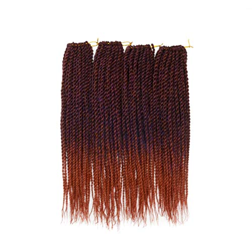 "Leyoo 12"" Senegalese Twist Crochet Braid(120 roots/Box) Thin Havana Mambo Crochet Hair Extension For Kids (M BP/350)"
