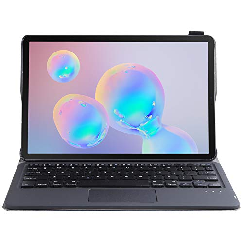 J&H Capa de teclado Bluetooth sem fio para Samsung Galaxy Tab S5e 10,5 [Modelo: SM-T720/SM-T725], capa protetora de couro sintético de ovelha, teclado removível e touchpad