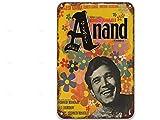 NNHG Anand (1971),Vintage Movies Metal Tin Signs Funny for Toilet Decorative Party Man Home Decor Farmhouse 8x12 pulgadas