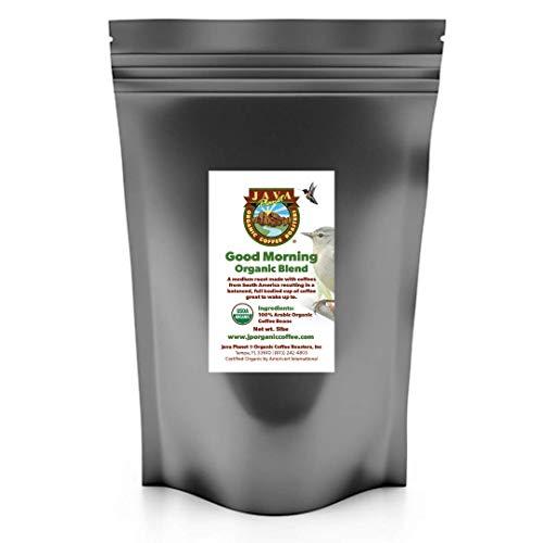 Java Planet Organic Coffee Beans Good Morning Blend - a Gourmet Medium Roast of Arabica Whole Bean Coffee USDA Certified Organic, Grown at High Altitude (5 lb)