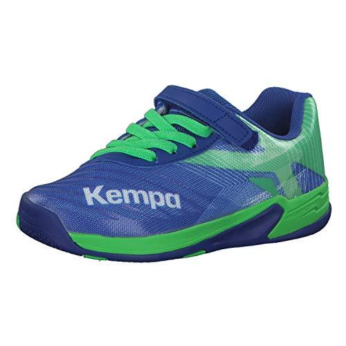 Kempa Unisex-Kinder Wing 2.0 JUNIOR Handballschuhe, Grün (Azur/Vert Printemps 01), 39 EU