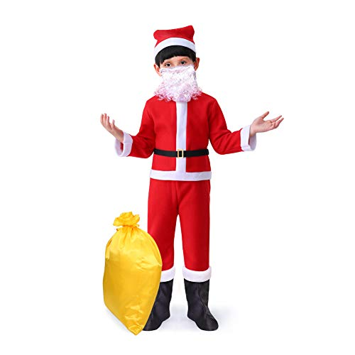 Bailamos Complete Santa Claus Christmas Suit Kids Costume Xmas Party Cosplay Children (Extra Large) Red