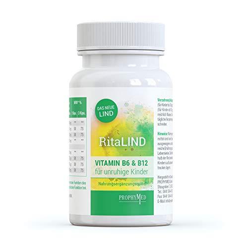 RitaLIND Kapseln für Konzentration und psychische Funktion (90 Kapseln) - mit Traubenkernextrakt & Safran Extrakt, enthält OPC, Taurin & Coenzym Q10 in hoher Konzentration mit Vitamin B6 & B12, vegan