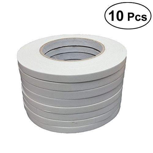 Cintas de doble cara: cintas adhesivas adhesivas de 10 piezas para artes, manualidades, envoltorios de regalo de Scrapbooking de fotografía (0.5 cm x 50 m)