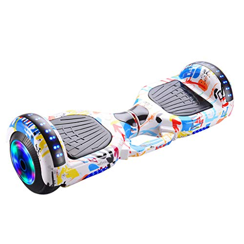 Hoverboard, 6.5 Zoll Self Balance Scooter mit Bluetooth Lautsprecher, LED Lights Elektro Scooter E-Skateboard Hover Scooter Board Bluetooth MiMiey