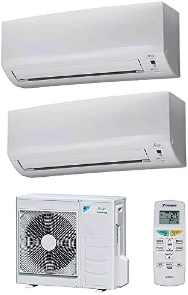 Daikin,climatizzatore dual split ,9000 piu`12000 btu, classe a++/a++ gas r32 serie siesta classic