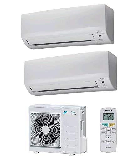 Climatizzatore Dual Split 9000 + 12000 Btu, Classe A++/A++ Gas R32 Serie Siesta Classic