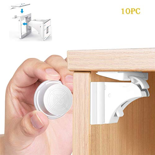Fineday Magnetic Child Lock Cabinet Baby Safety Invisible Drawer Lock Kitchen, Kitchen,Dining & Bar, Home & Garden (A)