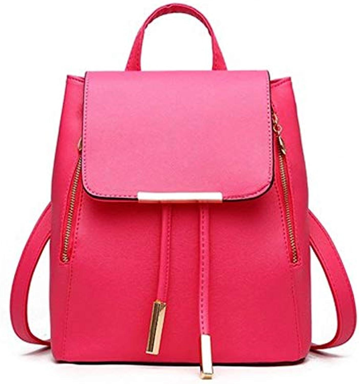 YDXYZ Damenmode pu Leder Leder Rucksack Rucksack umhngetasche lssig Mini Tasche für Frauen & mdchen (Farbe   Rot)