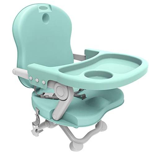 Todeco - Asiento Elevador para bebé, Silla portátil para alimentación de bebés - Alto: 38/42/46/50 cm - Material: PP - Verde