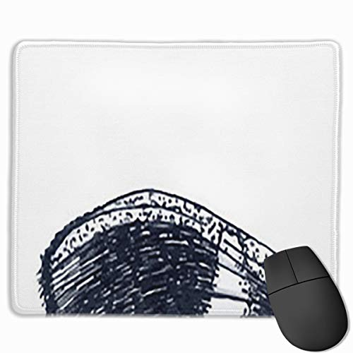 Beautiful Butterfly Tattoo Dotwork Tattoo Mouse pad Custom Rectangular Non-Slip Rubber Mouse pad Gaming Mouse pad