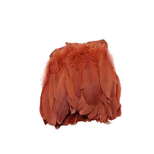 Plume d'oie Décor Vêtement Chapeaux Costumes Bricolage Tricot Cosplay 15-20cm - Café