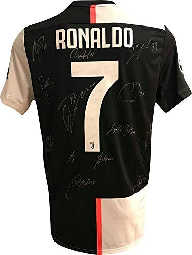 """MAESTRI DEL CALCIO Maglia Gara bianconera Champions League """"Ronaldo 7"""" Autografata 2021/2020 Firmata Firme Giocatori"""
