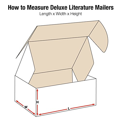 Aviditi White Deluxe Literature Mailing Boxes, 16 x 12 x 4 Inches, Pack of 50, Crush-Proof, for Shipping, Mailing and Storing