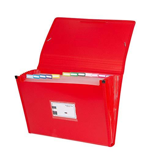 Grafoplás 02963051-Carpeta organizadora, tamaño folio, color rojo