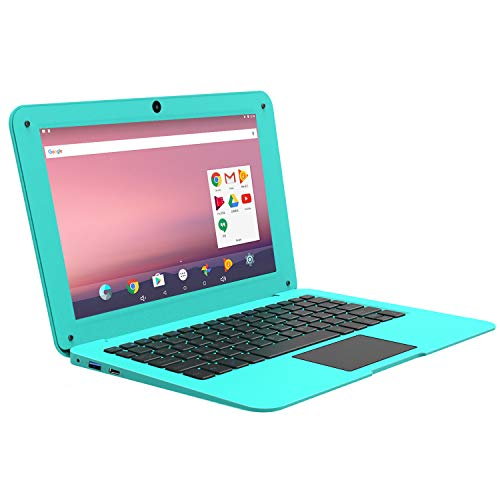 Mocory PC-1068A64 Android OS Laptop,10.1-Inch IPS(1280*800) Display, Built-in WiFi, Front Camera, Bluetooth,Mini Netbook pc (10.1, Blue-16GB)