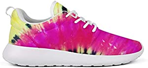 WZLAN Trippy Tie Dye Art Womens Running Shoes Unique Mesh Up Workout Walking Sneaker