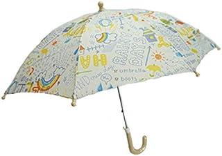 らくがき柄 傘 アンブレラ キッズ 子供用 子供 カサ かさ L162018 50cm M アイボリー