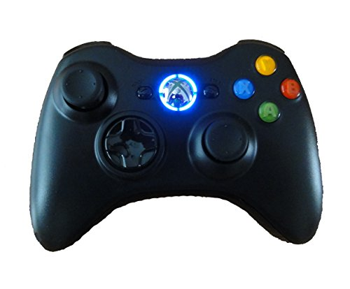 Black Xbox 360 Modded Controller (Rapid Fire, Blue LEDs) COD Ghosts, Call of Duty Black Ops 2, MW2, MW3, Halo, GTA..many more