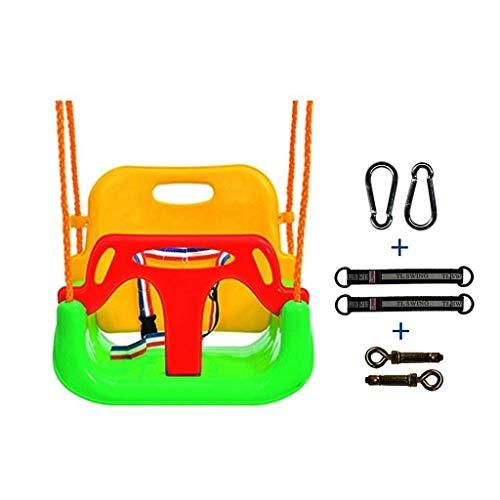 TETHYSUN Hammock Doble Hamaca casa al Aire Libre Tres en uno Swing Swing Swing Swing para niños Puede Llevar 150 kg Swing Silla (Color : Red-B)