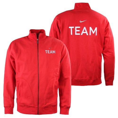 Nike Team Fleece Herren TrackTop Trainingsjacke rot Sweatjacke Sport Jacke XXL