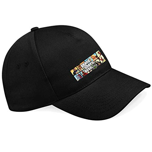 nnm GTA V GTA 5 Grand Theft Car 5 Rockstar Jogos Games Logo Gorras de béisbol- K138.